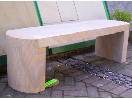 Rainbow Natural Stone Bench 1200mm