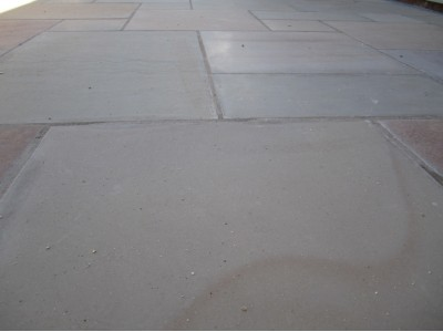 Indian Sandstone Paving - Buff Sawn & Honed