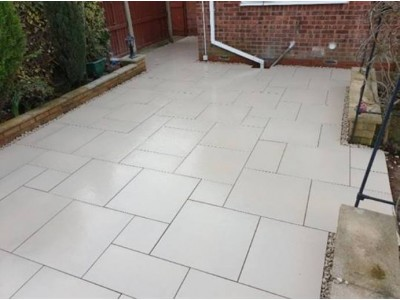Porcelain Vitrified Paving Lime - Sample (Refundable)