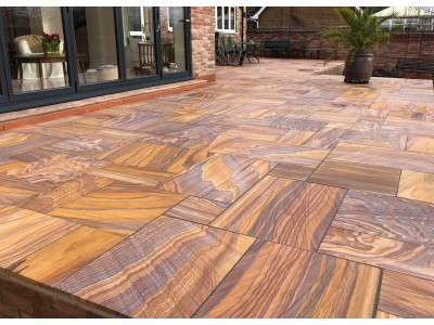 Rainbow Indian Sandstone Paving Sawn & Honed  - Sample (Refundable)