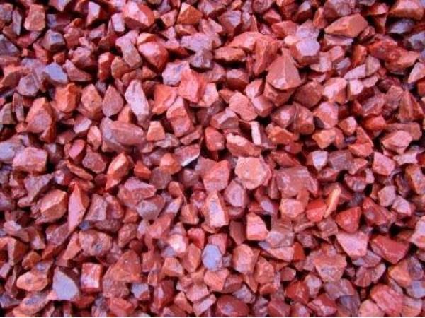 Red Granite Gravel : Highland red granite decorative gravel