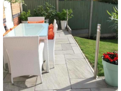 Silver Grey Indian Sandstone Patio Pack